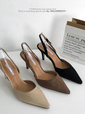 Misubi露脚脚后跟鞋(7cm)