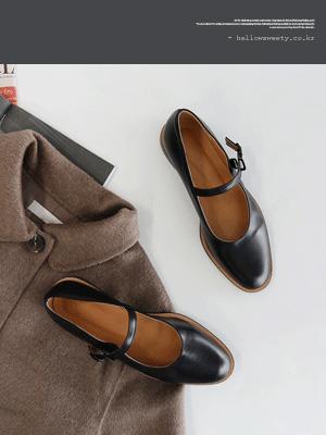 Abelo Mary Jane平底鞋(2厘米)