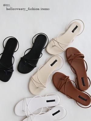 Penny皮条/束带凉鞋(1.5cm)